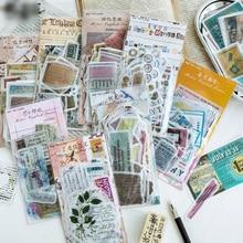 Retro English Stickers Set 60pcs/pack Diy Album Diary Planner Scrapbook Stickers Stationery Sticker School Office Supplies