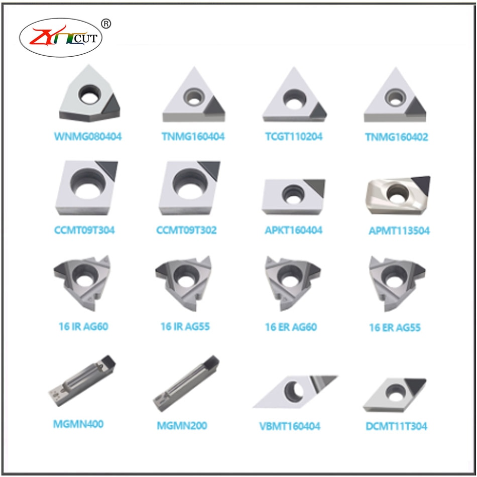 2PCS PCD/CBN blade Processing of High Hardness Quick Fire Steel MGMN150/MGMN200/MGMN300/MGMN400/MGMN500-PCD Notching blade