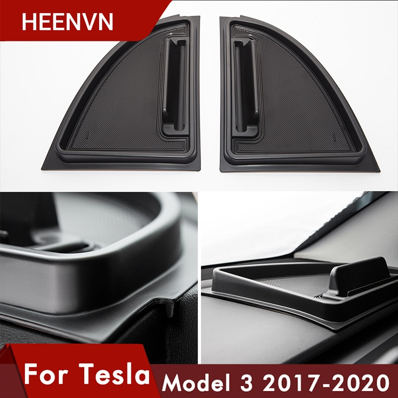 Heenvn model3 caixa de armazenamento do painel frontal do carro para tesla modelo 3 acessórios instrumento bandeja armazenamento para tesla três 2020