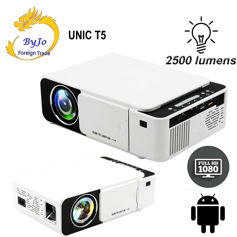 UNIC-Proyector LED T5 Original para cine en casa, 2019 lúmenes, USB, HDMI,...