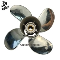captain propeller 11 58x12 fit yamaha outboard engines t25hp 48hp f50 55hp stainless steel 13 tooth spline rh 4 blade