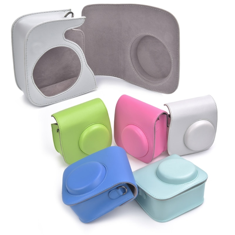 Instax Mini 8/9, bolsas para cámara, cuero de imitación, funda con correa, bolsa para Fujifilm