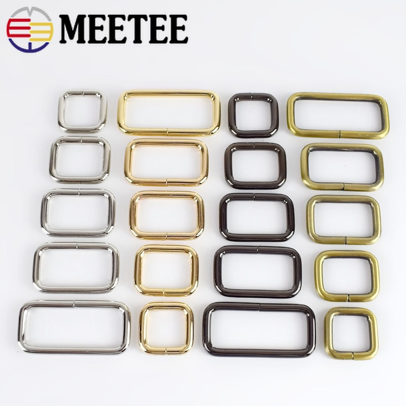aliexpress.com - 10Pcs Meetee Rectangle Metal Buckles Webbing Belt Ribbon Buckle Clasp Handbag Strap Clips Adjuster DIY Hardware Accessories F4-5
