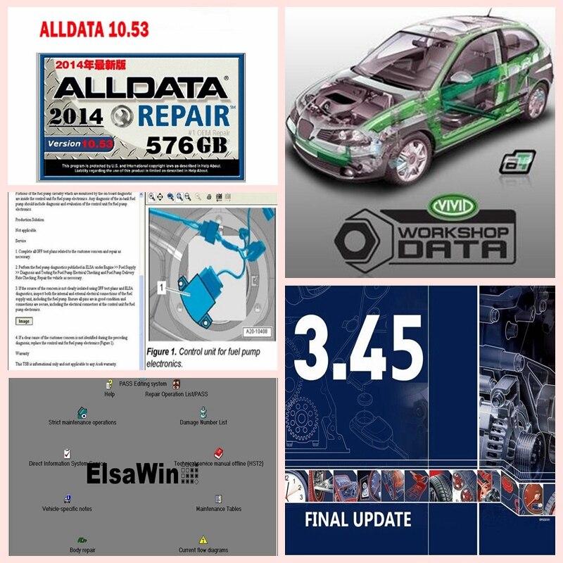Alldata10.53 vívido oficina dados elsawin6.0 atsg2017 auto .. dados 3.45 mit/chell 6 alldata software de reparo instalar bem em 2tb hdd