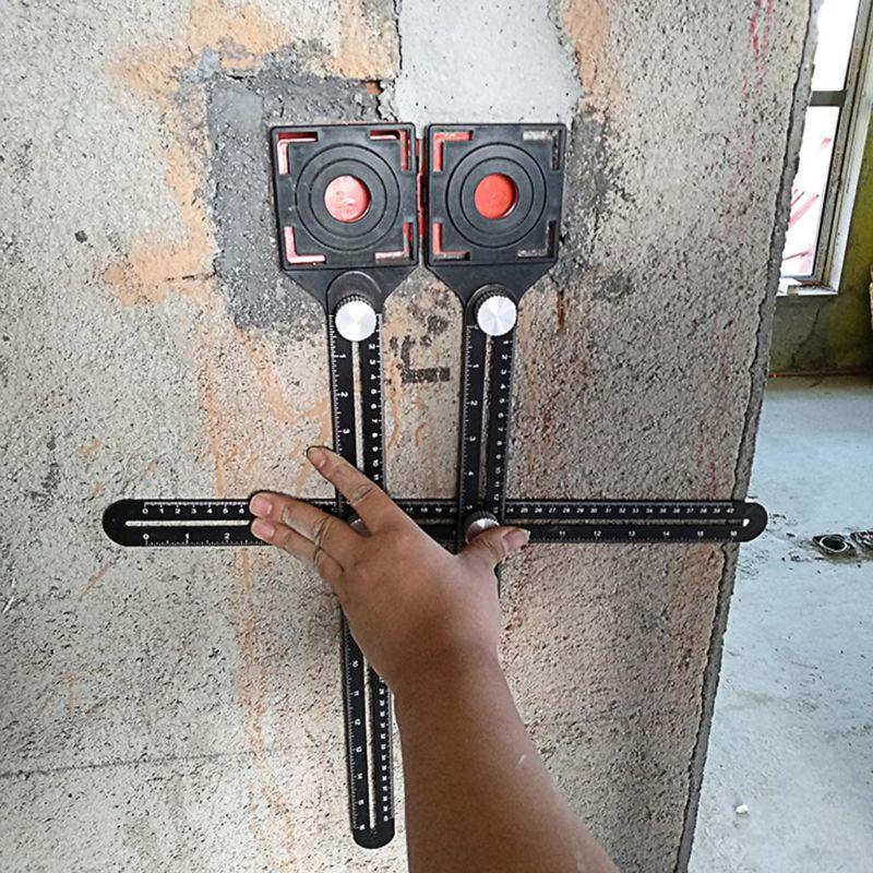 Инструмент для пробивки стекла многоугольный измерительный линейка из
