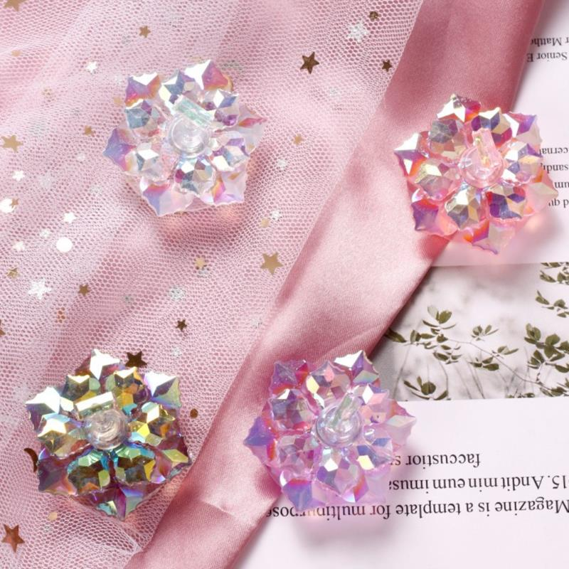 1PC Magnetic Nail Holder Practice Training Display Glitter Sequins Flower Designs Acrylic False Nail