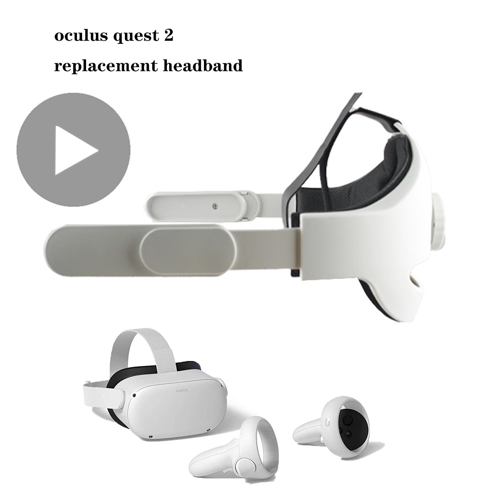 VR نظارات الواقع الافتراضي ل Quest2 كوة كويست 2 هالو شريط للرأس اكسسوارات خوذة سماعة الألعاب لعبة Oqulus مهد Ocukus
