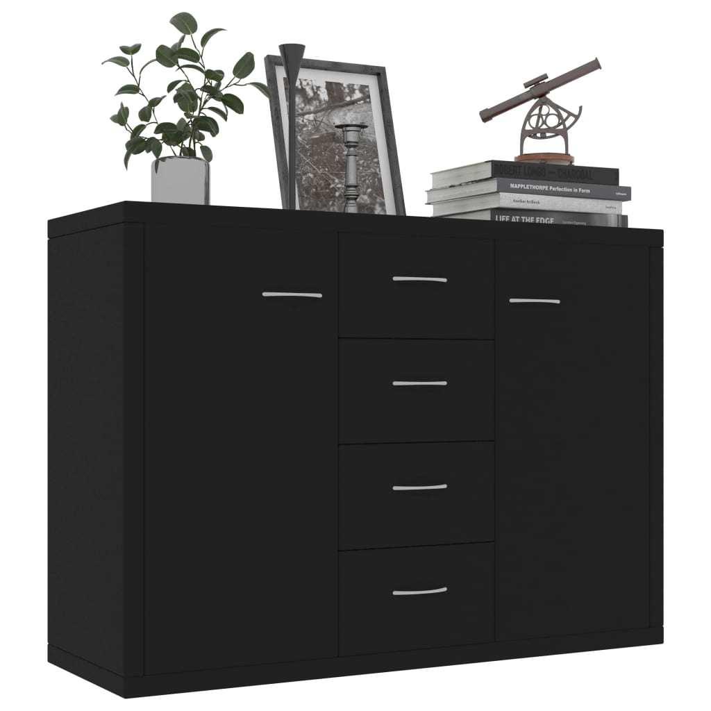 مستطيلة 2 باب 4 درج خزانة صالون الشعر 34.6x11.8x25.6 بوصة خزانة اللوح الأسود [US-W]