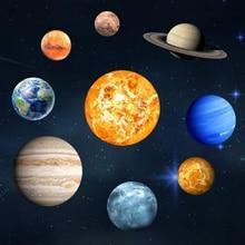 Bâton mural Fluorescent   9 planètes, système solaire, la planète de lunivers, galaxie, pour chambre à coucher, pour enfants, Sticke mural lumineux