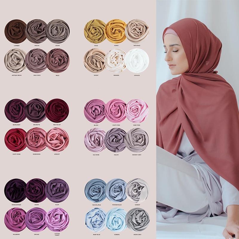 Muslim Fashion Plain Chiffon Hijab Scarf Women Shawl Headscarf Wraps Islamic Jersey Hijabs Headband Scarves Turban Foulard Femme premium floral printed chiffon hijab scarf women muslim headscarf shawls and wraps islamic scarves turban headband foulard femme