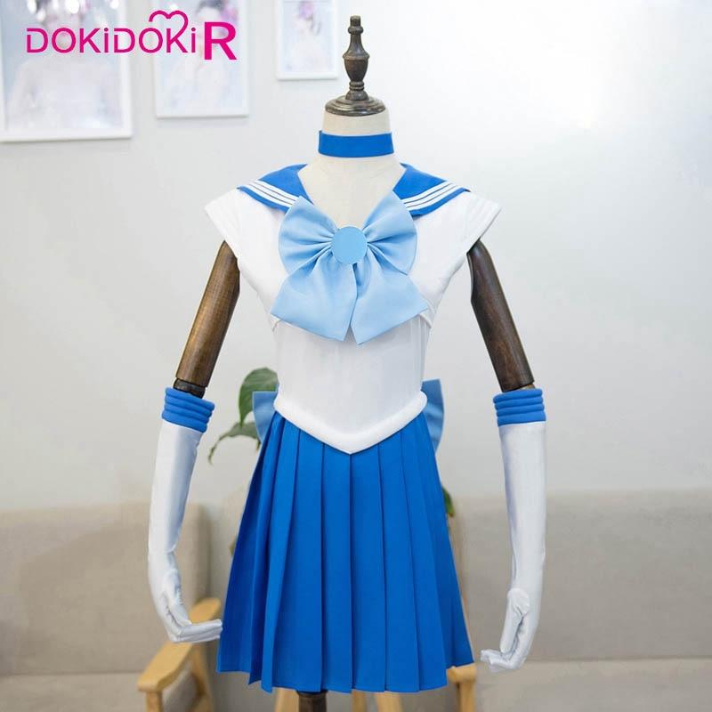 Dokidoki-r, disfraz de Cosplay de Anime, Sailor Moon, disfraz de Sailor para mujer, uniforme lunar Tsukino Usagi /Mizuno Ami/Rei Hino/Minako Aino
