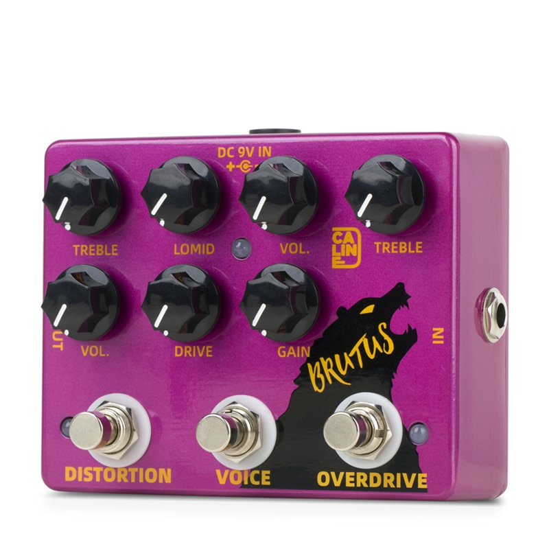 Caline DCP-02 BRUTUS Distortion Overdrive Effect Pedal Guitar Accessories Dual Guitar Pedal enlarge