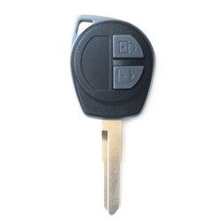 2 botões remoto chave capa para suzuki grand vitara swift substituição caso escudo chave do carro em branco fob + botão almofada
