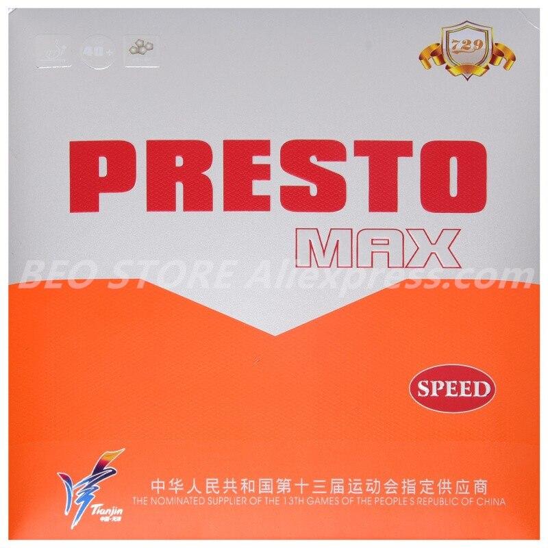 Дружба 729 PRESTO Максимальная скорость вращения Настольный теннис Резина не липкий торт макропористая губка пинг понг теннис де меса