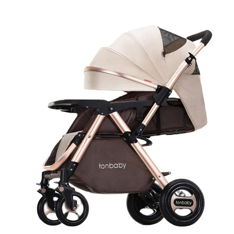 عربة أطفال ثنائية الاتجاه للأطفال ، قابلة للطي ، محمولة وخفيفة الوزن