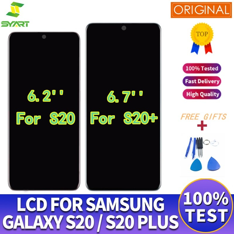 LCD Screen For Samsung Galaxy S20 G980 G980F S20+ Touch Screen Assembly Replace For Samsung S20 Plus G985 G985F Original Display