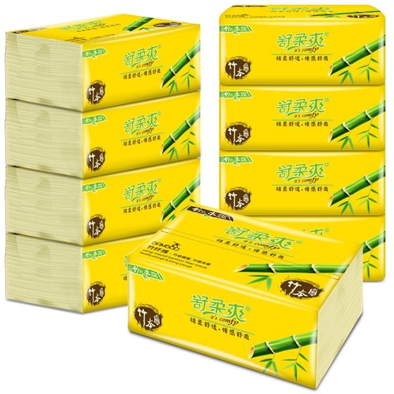 10 упаковочных бумажных полотенец бамбуковая целлюлозная салфетка 300 салфетки Бытовая бамбуковая туалетная бумага E001