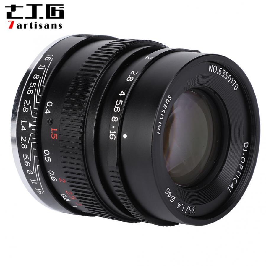 7 artesanos 35mm F1.4 completa lente Sony E montaje A7 A7 A7R A7RII A7S A7SII A6500 A6300 A6000 A5100 A5000 NEX-3N NEX-3 R