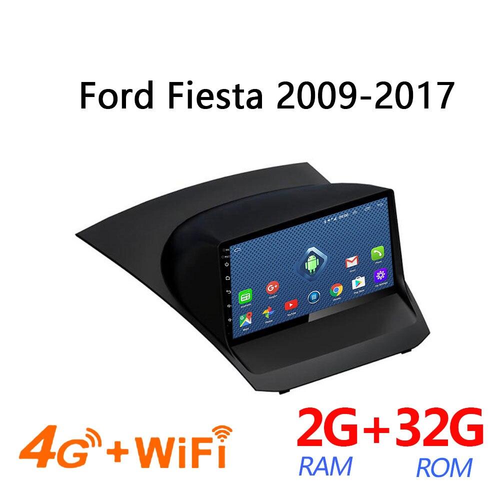 Leitor de carro 4g netcom completo 2 + 32g para ford fiesta 2009-2017 coche áudio auto multimídia autoradio android rádio coche bluetooth