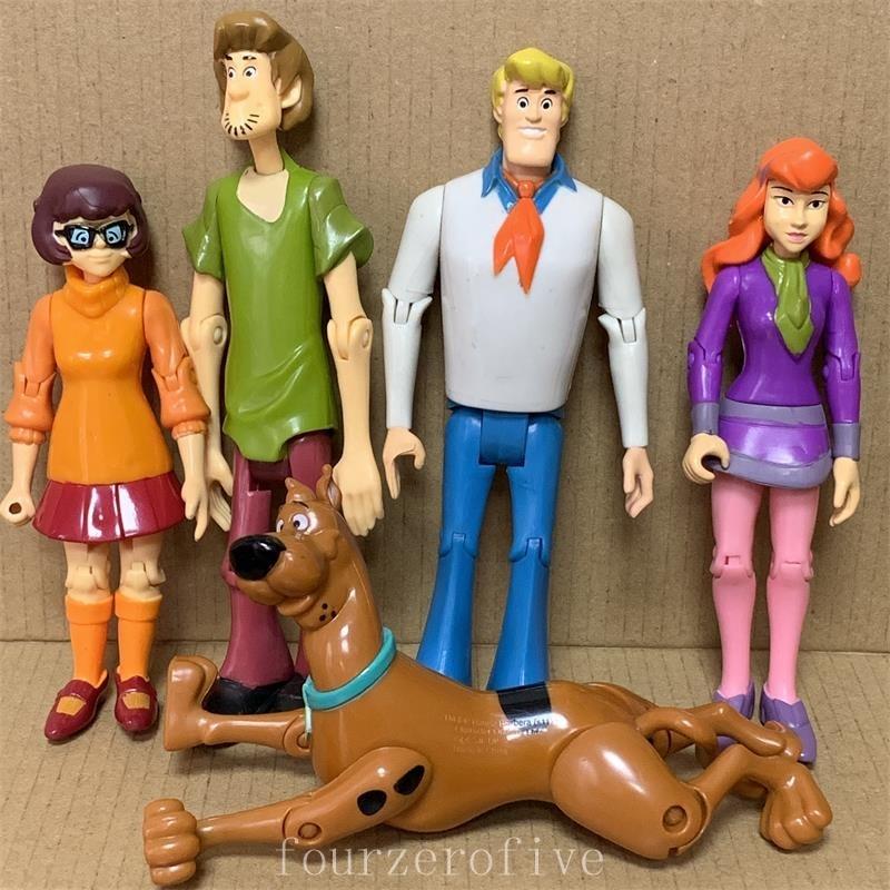 LOT Scooby Geheimnis Lösung Crew Action Figure Set FRED SHAGGY DAPHNE VELMA 5Scooby Doo Spielzeug Kinder Geschenk