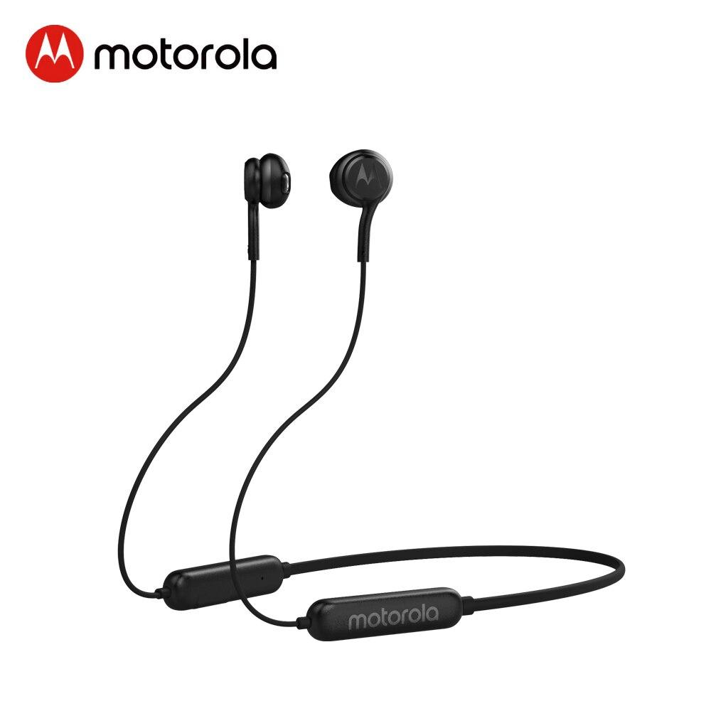 Беспроводные наушники Motorola Bluetooth 5,0 IPX5 водонепроницаемые наушники с шейным ремешком поддержка голосовой команды Alexa, Siri, Google Assistant