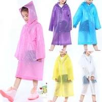 1pcs transparent fashion frosted child raincoat girl and boy rainwear outdoor hiking travel rain gear coat for children