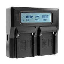 Lcd double canal chargeur pour Sony Sony BP-U30 BP-U60 BP-U90 caméra batterie ca/cc