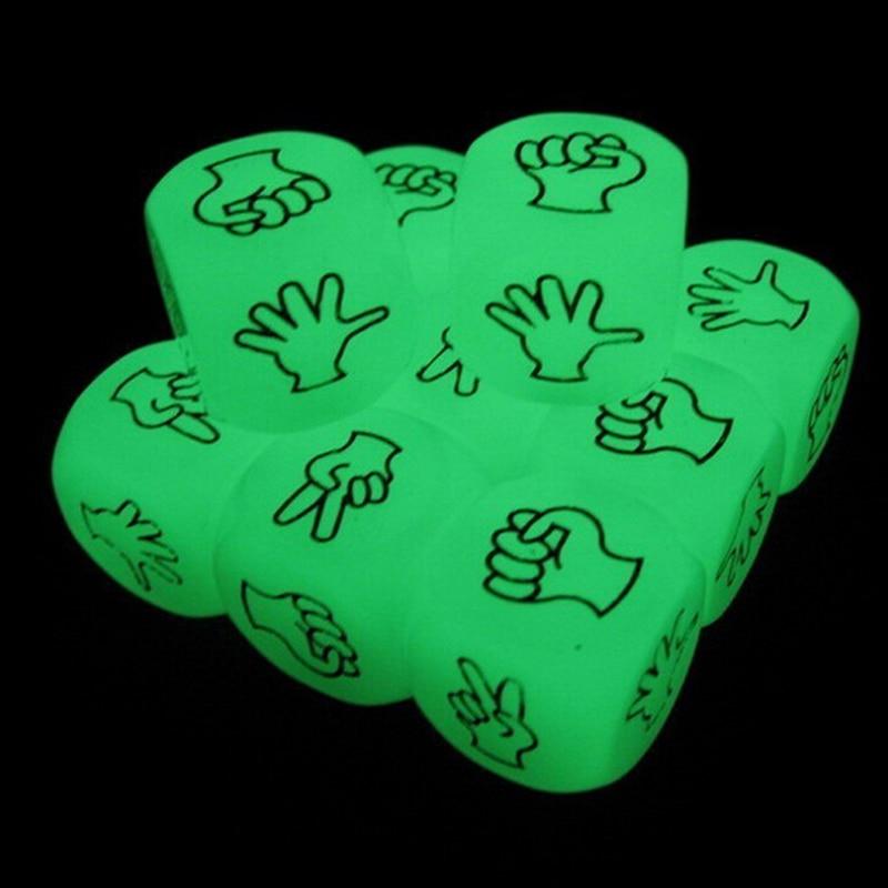 6 luz lateral luminosa mora dice divertido jogo de tabuleiro noite barra dados ktv entretenimento jogo dados noctilucent