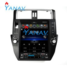 GPS Navigation DVD Vertical Tesla style voiture multimédia stéréo pour-Toyota Prado 2010 2011 2012 2013 pour-TOYOTA PRADO 2010-2013