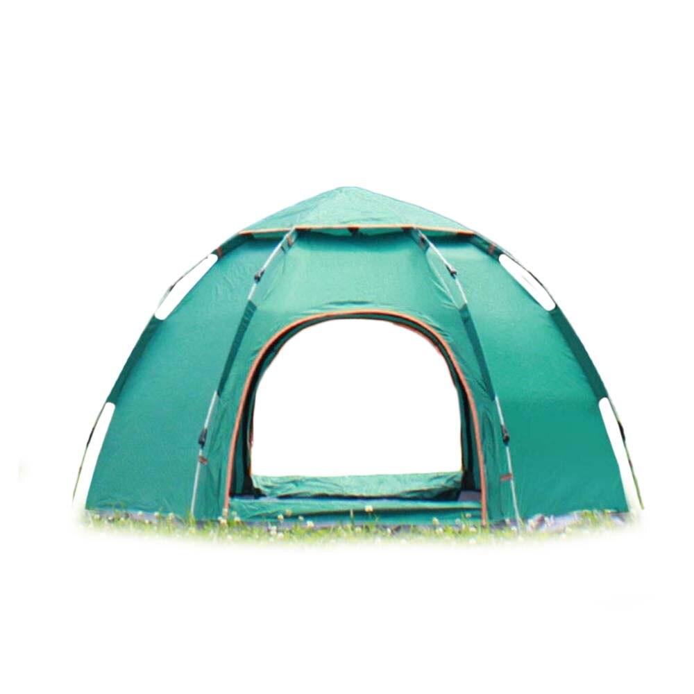 Tienda de campaña automática para pesca en la playa 3-5 tiendas de personas al aire libre camping hexagonal tiendas de campaña impermeable pesca
