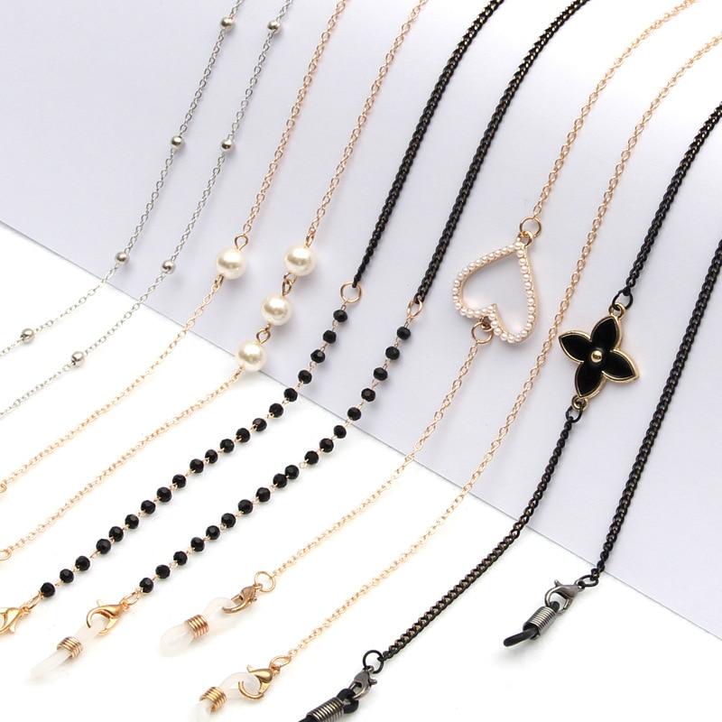 Fashion Pearl Mask Chains Eyeglasses Chain For Women Retro Metal Sunglasses Lanyards Eyewear Cord Ho