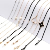 fashion pearl mask chains glasses chain for women retro metal sunglasses lanyards eyewear cord holder neck strap dropshipping