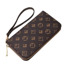 Luxury Wallet Women/men Designer Leather Cluth Purse Female Large Capacity Handbag Long Wallet Women