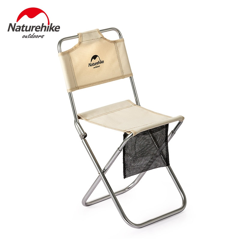 Naturehike-Mini silla portátil ultraliviana, pequeña, para Camping, pesca, Picnic, en la playa, barbacoa, taburete plegable de aleación de aluminio