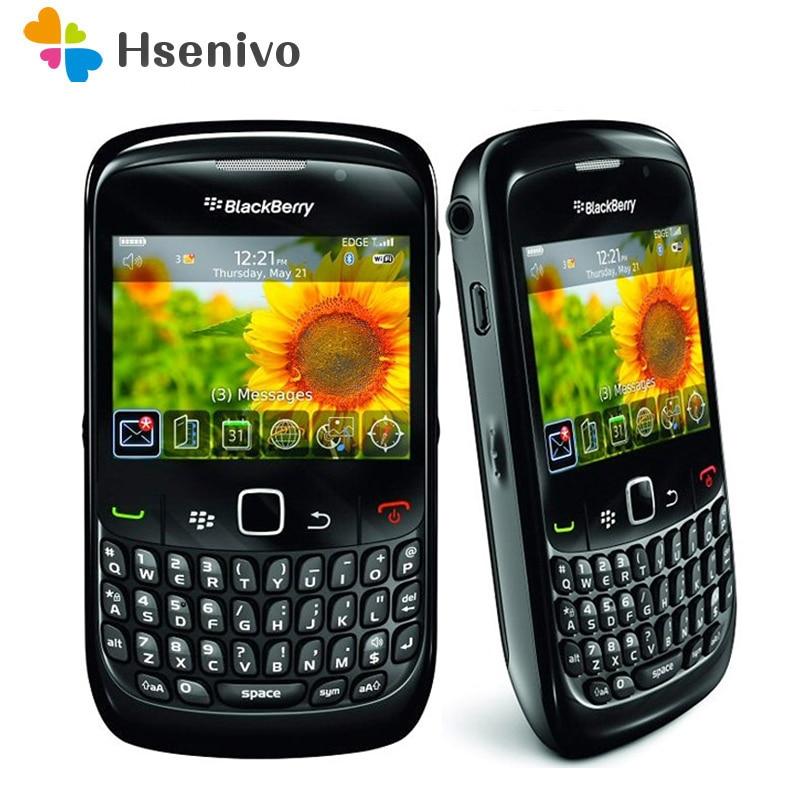 100%, teléfono móvil Original BlackBerry 8520 Curve, teléfono móvil libre, 3G, wi-fi, Bluetooth 8520, envío gratuito