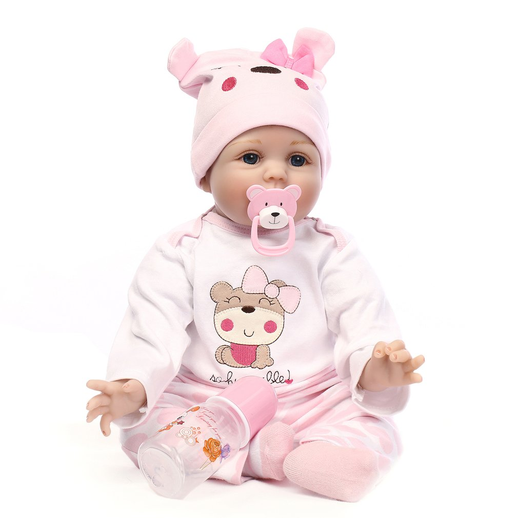 55CM Silicone Reborn Baby Doll Toys Realistic Soft Alive Reborn Baby Doll Handmade Bebes Reborn Dolls Kids Birthday Gift new style soft baby doll gift 22 inch silicone baby dolls realistic doll reborn gift for children play house toys with dress