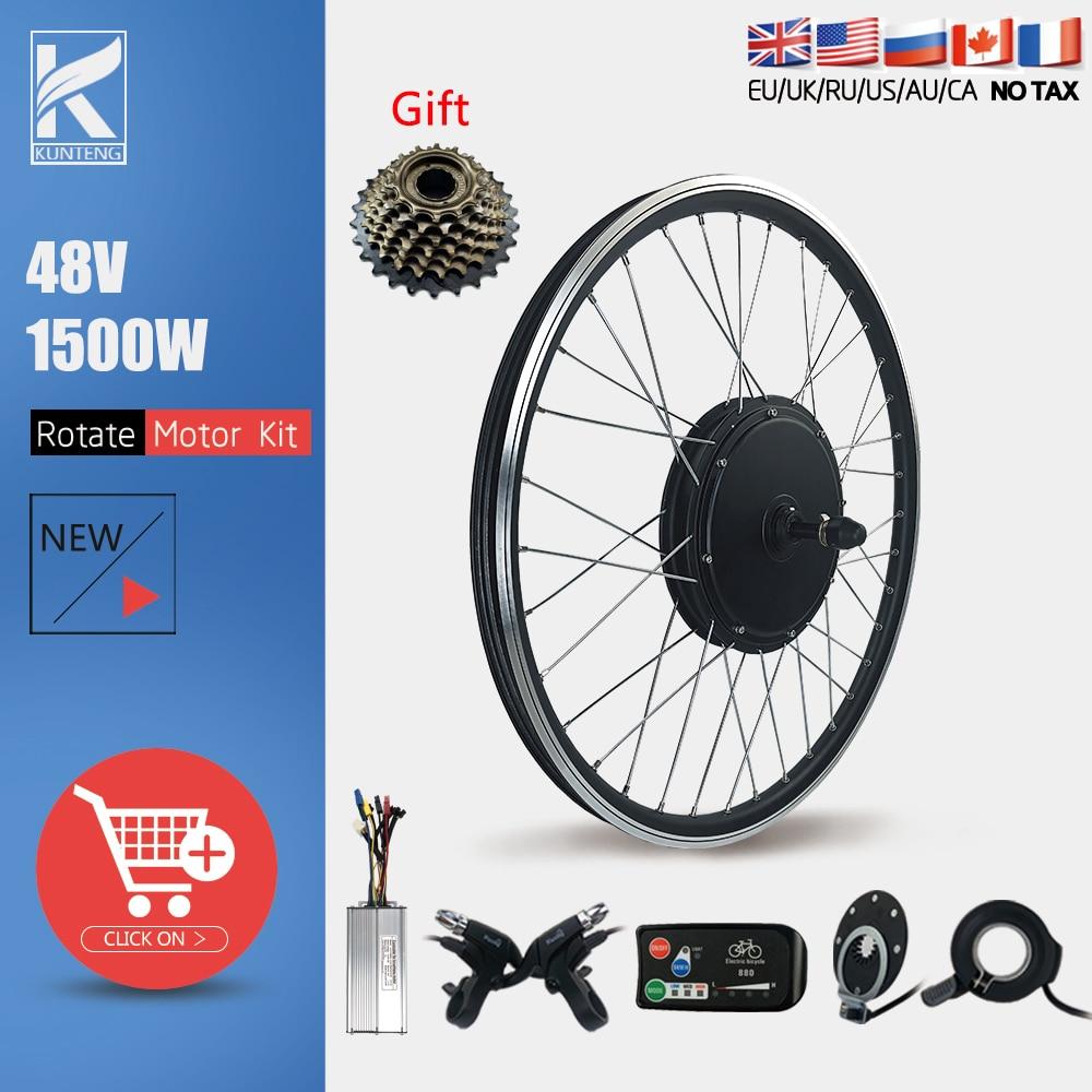 Electric Bicycle Conversion Kit 48V1500W 20 24 26 27.5 28 29inch 700C Brushless Rear Rotate Wheel Hub Motor For Ebike Motor Kit