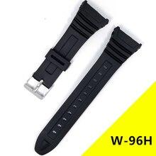 Pour Casio G-SHOCK W-96H montres bracelet de montre Silicone bandes de caoutchouc EF pour casio montre-bracelet électronique montre de sport remplacer les sangles
