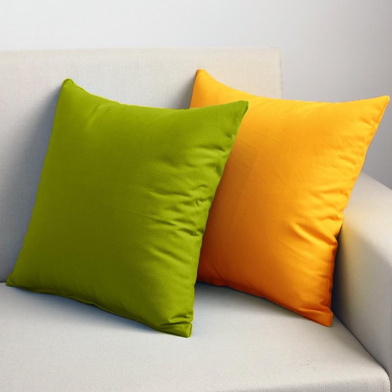 2 piezas 45*45cm funda de cojín flexible de color sólido funda de almohada elástica fundas de sofá de poliéster fundas de sofá muebles para sofá