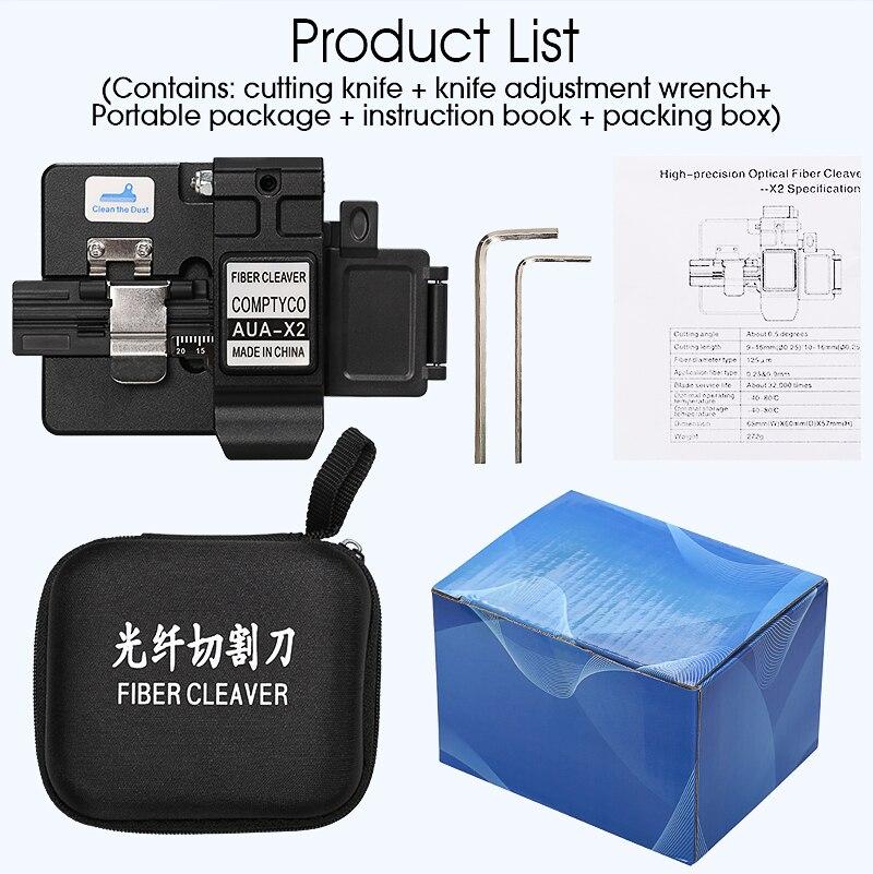 Cuchilla de fibra AUA-X2 FTTH, cortador de Cable de fibra óptica, utensilios...