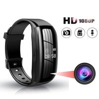 Смарт-браслет с цветным дисплеем, ремешок на запястье с поддержкой 1080P, с функцией записи голоса и фото-и видеозаписи