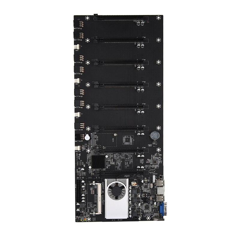 BTC-T37 Mining Motherboard VGA 8PCIE 16X 8GPU Video Card Support 1066/1333/1600MHz DDR3/DDR3L BTC-T37 Mining Motherboard