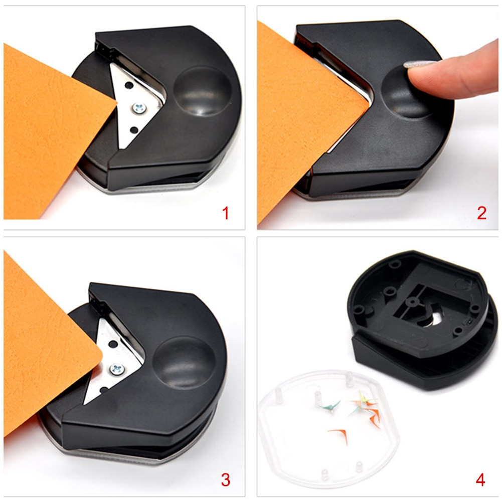 chamfering machine paper cutter diy cardboard photo corner punch rounder Hot Corner Punch Corner Cutter Rounder Paper Punch Small Rounded Cutting Tools Craft Scrapbooking DIY Tool for Photo Card Paper