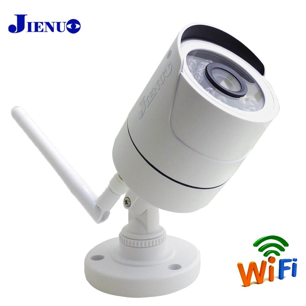 JIENUO-كاميرا مراقبة خارجية Ip HD Cctv ، جهاز أمان لاسلكي ، مع رؤية ليلية بالأشعة تحت الحمراء ، Wifi ، صوت P2P ، كاميرا فيديو منزلية