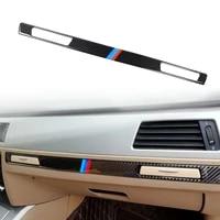 car styling interior carbon fiber sticker copilot water cup holder panel strip trim accessories for bmw 3 series e90 e92 e93