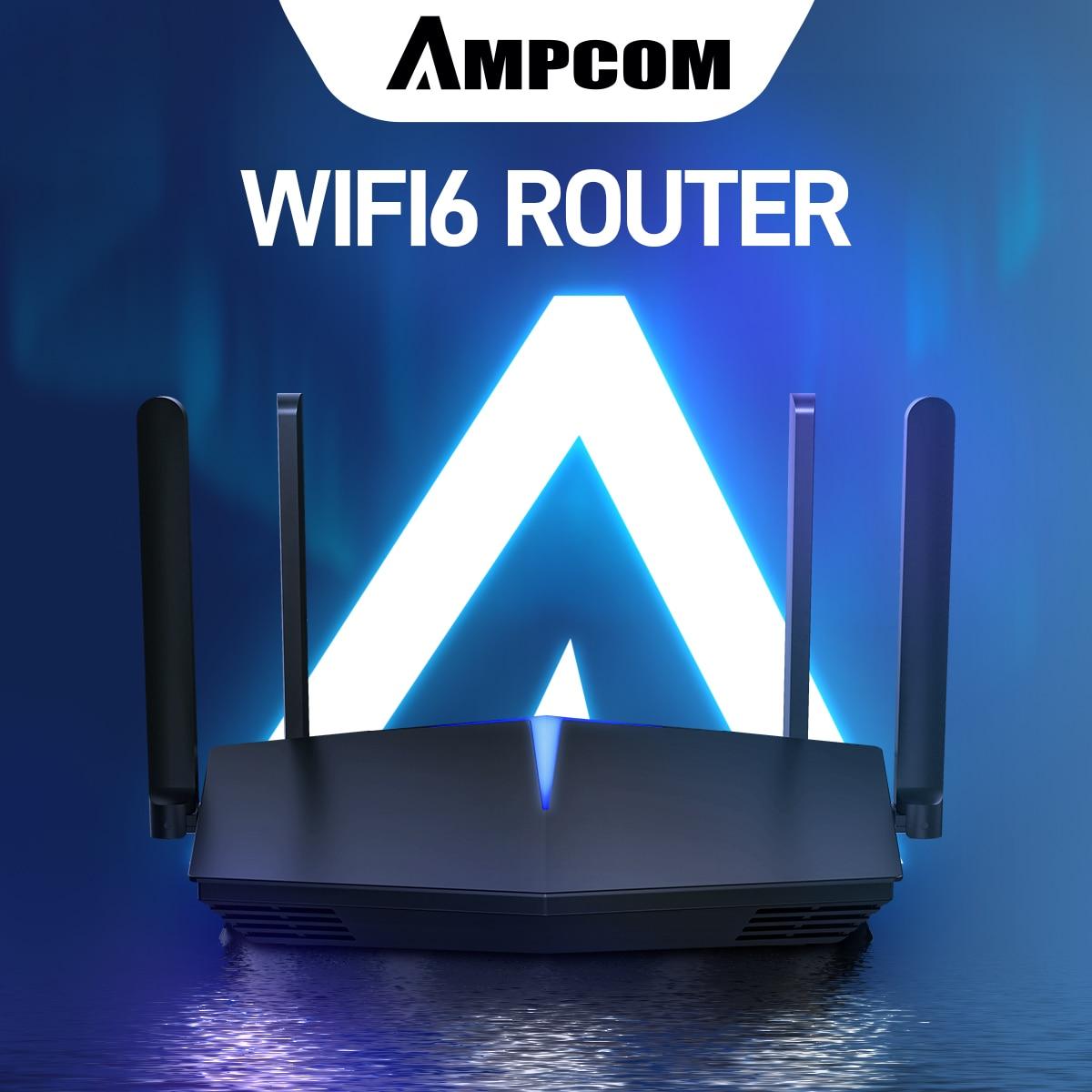 AMPCOM-راوتر واي فاي ذكي AX1800 ، wi-fi ، Qualcomm 5-core ، wi-fi 6 ، 2.4/5.0 جيجاهرتز ، ثنائي التردد ، 5 جيجاهرتز ، للمنزل