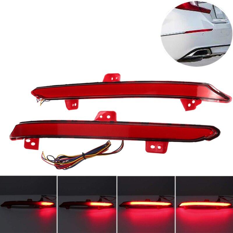 Car Rear Bumper LED Taillight Brake Light Reflector Turn Signal Lamps for Honda Accord 2018 2019