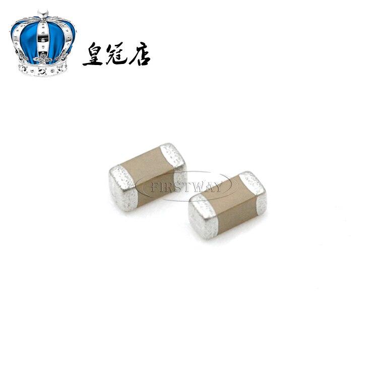 100 Uds MLCC capacitancia 0603 100NF 0,1 UF 100V 10% X7R GRM188R72A104KA35D