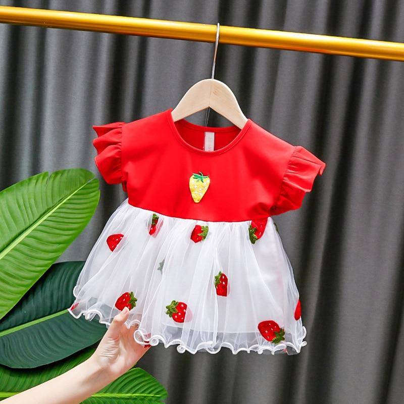 Vestido de verano para niñas pequeñas, bonito vestido de princesa para niño niña, ropa para niña bebé, Vestidos para recién nacidos de 0 a 2 años, 2020