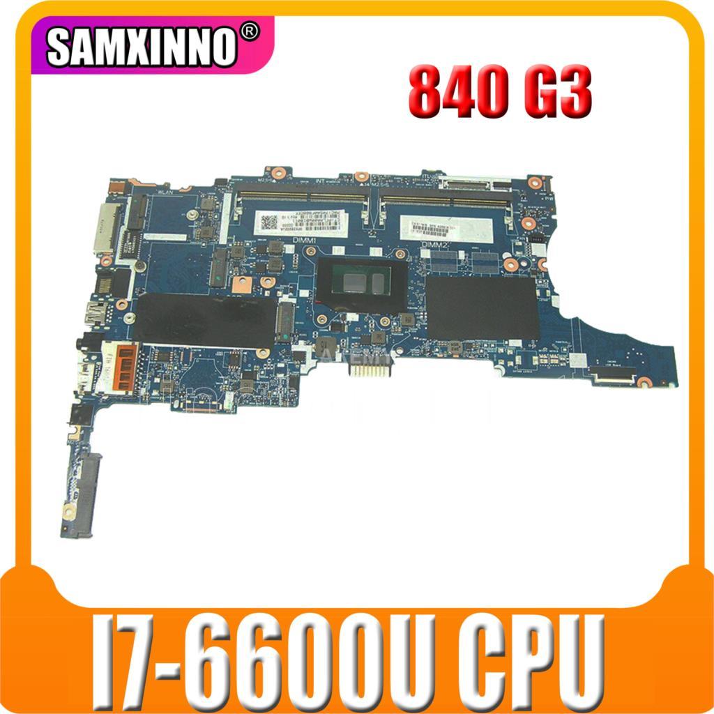 Akemy para For HP 840 G3 850 G3 portátil placa base 918315-601, 918315-001 6050A2892401-MB-A01 W/SR2F1 I7-6600U CPU